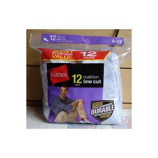 ヘインズ 靴下 ローカット 12足セット Hanes 12pairs cushion low cut ショートソックス Made in U.S.A. アメリカ製|buddy-us-clothing
