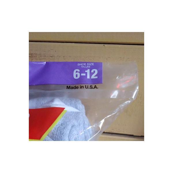 ヘインズ 靴下 ローカット 12足セット Hanes 12pairs cushion low cut ショートソックス Made in U.S.A. アメリカ製|buddy-us-clothing|03