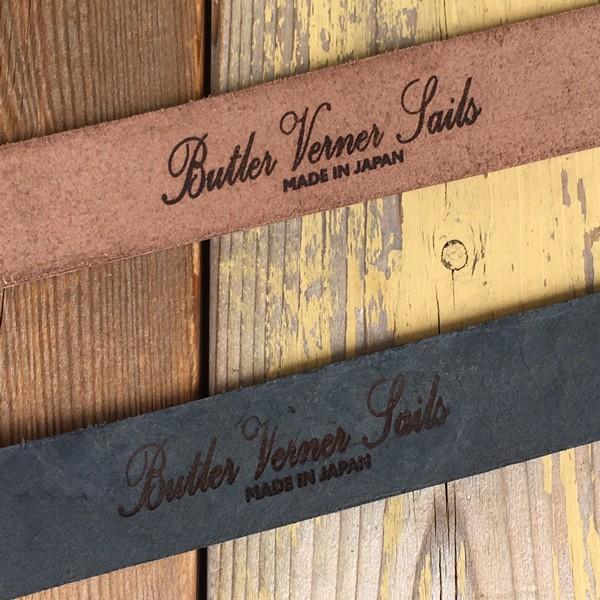 バトラーバーナーセイルズ ピューターギャリソン 金具 本革 ベルト 35mm Butler Verner Sails アメカジ  フルベジタブルタンニングレザー|buddy-us-clothing|06