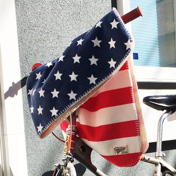 フリースブランケット U.S.A.  ひざ掛け パイルフリース 毛布 星条旗 星柄|buddy-us-clothing