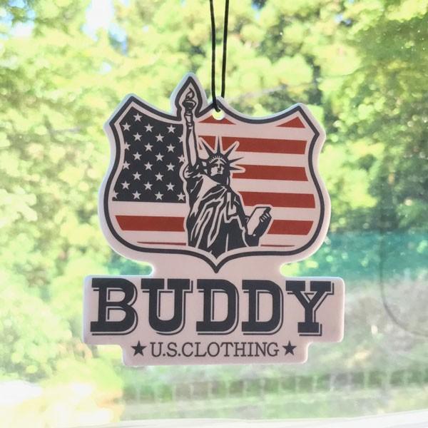 自由の女神 エアフレッシュナー BUDDY AIR FRESHENER Statue of Liberty ENJOY WITH BUDDY!!  芳香剤 消臭剤 アメリカ USA インディアン|buddy-us-clothing