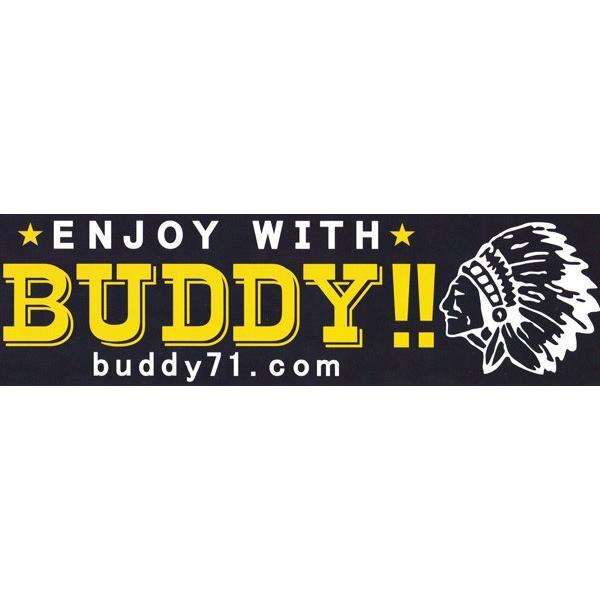 バンパーステッカー 耐水素材・耐紫外線・BUDDY ステッカー ネイビー・チャコール アメカジ バディ デカール カスタム シール インディアン|buddy-us-clothing|02