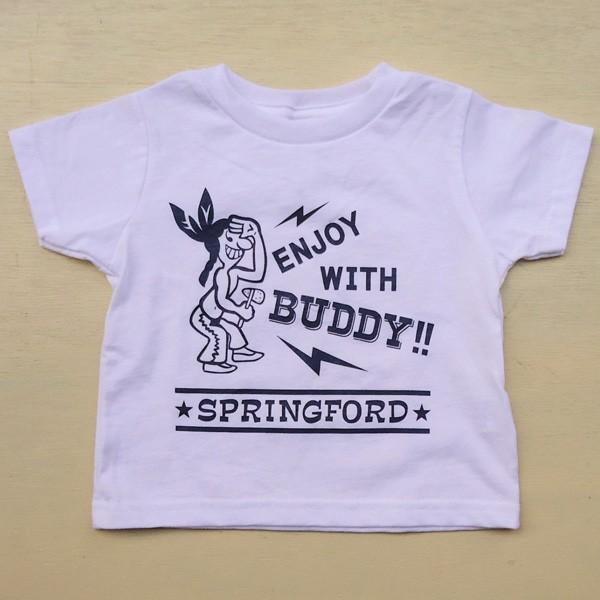 アメカジ キッズ Tシャツ BUDDY オリジナル SPRING FORD KID'S Tシャツ(ENJOY WITH BUDDY!!) 子供 キッズ インディアン 白 ホワイト buddy-us-clothing 03