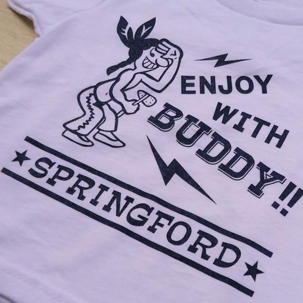 アメカジ キッズ Tシャツ BUDDY オリジナル SPRING FORD KID'S Tシャツ(ENJOY WITH BUDDY!!) 子供 キッズ インディアン 白 ホワイト buddy-us-clothing 05