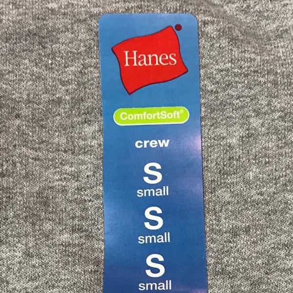 ヘインズ キッズ 無地  グレー クルーネック スウェット トレーナー 丸首 Hanes US企画 輸入品 GRAY Sサイズ(6/7)120~130 アメカジ Kids 裏起毛 Crew|buddy-us-clothing|05
