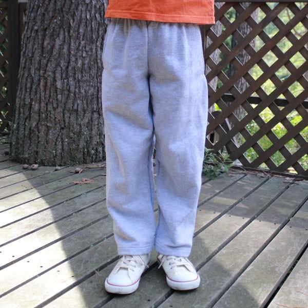 ヘインズ キッズ 無地 グレー スウェット パンツ Hanes US企画 輸入品 LIGHT STEEL Sサイズ(6/7) 120~130 アメカジ Kids 裏起毛 open leg pants|buddy-us-clothing