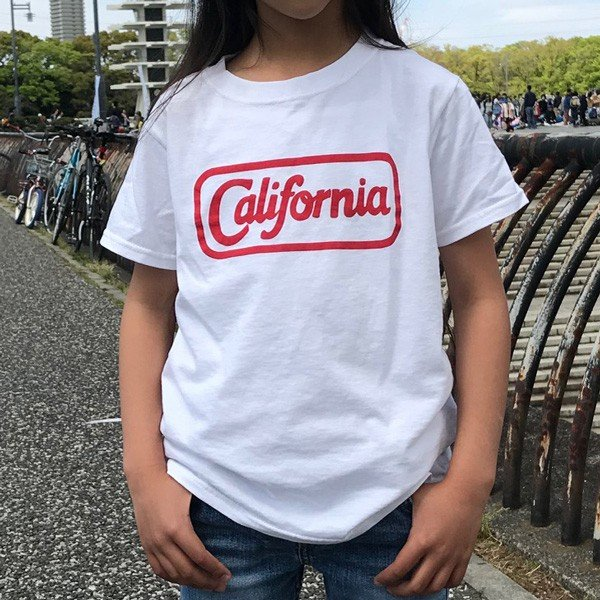 アメカジ キッズ Tシャツ BUDDY×FRUIT OF THE LOOM KID'S CALIFORNIA フルーツオブザルーム KID'S コットン 綿100% 子供服 カリフォルニア 親子 ペアルック|buddy-us-clothing|02
