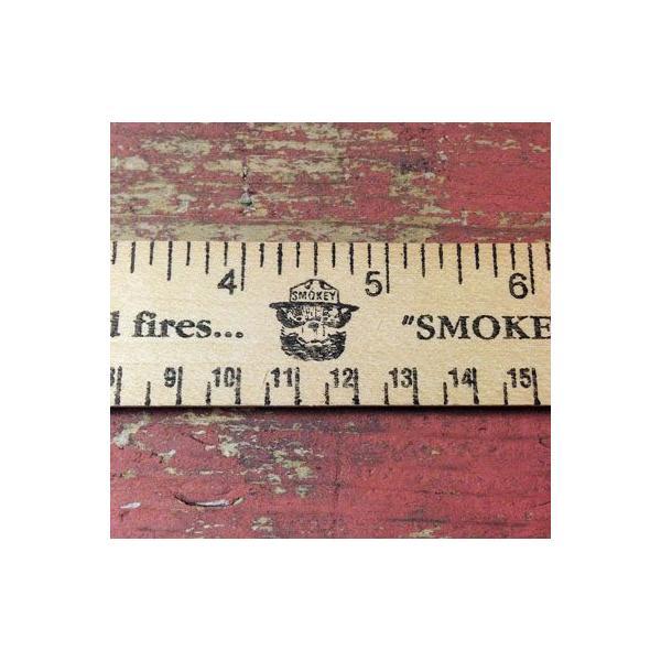 SMOKEY BEAR WOOD RULER/スモーキーベアー ウッドルーラー 定規 アメリカ 雑貨 文具|buddy-us-clothing|03