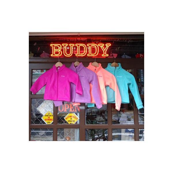 Kids Columbia U.S.コロンビア フリースジャケット 防寒保温ジャンパー  子供 Baby ベビー オレンジ ローズピンク エメラルドグリーン パープル|buddy-us-clothing