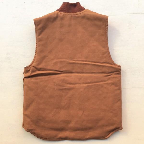 カーハート ワッペン付き ダックベスト ブラウン Sサイズ(日本のMサイズ相当)BUDDY オリジナル Carhartt V01 Duck Vest Quilt-Lined V01BRN 中綿 アメカジ |buddy-us-clothing|03