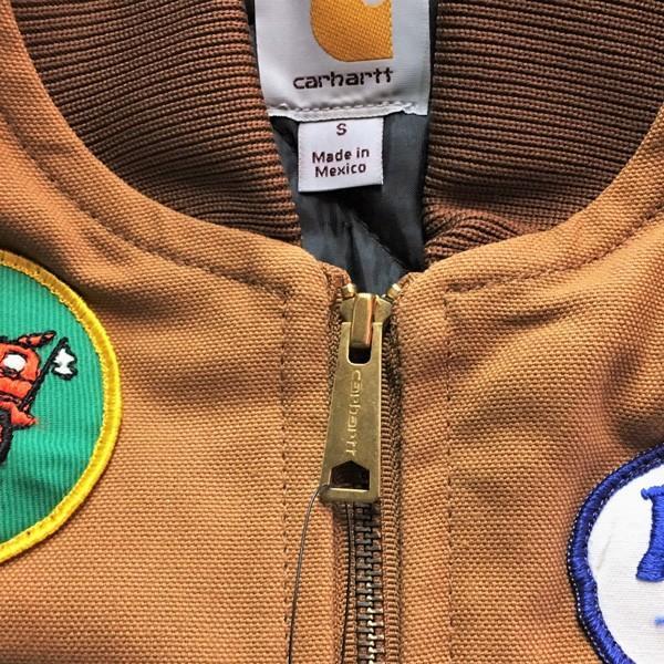 カーハート ワッペン付き ダックベスト ブラウン Sサイズ(日本のMサイズ相当)BUDDY オリジナル Carhartt V01 Duck Vest Quilt-Lined V01BRN 中綿 アメカジ |buddy-us-clothing|04