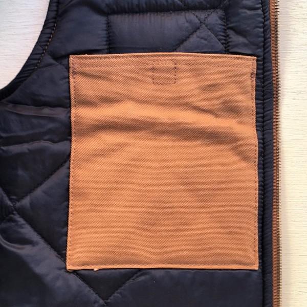 カーハート ワッペン付き ダックベスト ブラウン Sサイズ(日本のMサイズ相当)BUDDY オリジナル Carhartt V01 Duck Vest Quilt-Lined V01BRN 中綿 アメカジ |buddy-us-clothing|05
