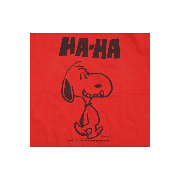 BUDDY 別注 PEANUTS スヌーピーTシャツ(HA-HA)|buddy-us-clothing|03