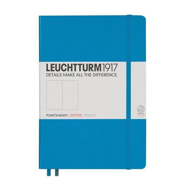 LEUCHTTURM1917 ロイヒトトゥルム ノート A5 ドット方眼 アジュール 346695 バレットジャーナルとしての使用がおすすめです。