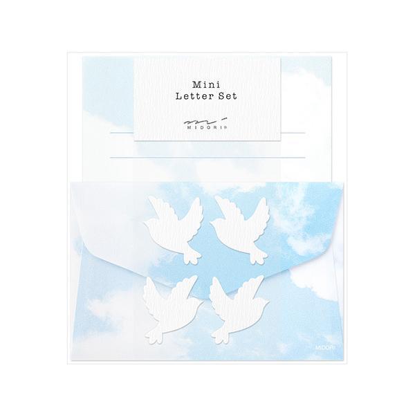 【ミドリ】 ミニレターセット 空色ノキモチ 91802-608