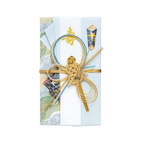 【ネコポス対応〇】マルアイ 新金封 みやび 亀 アオ ご祝儀袋 1枚【キ-599B】
