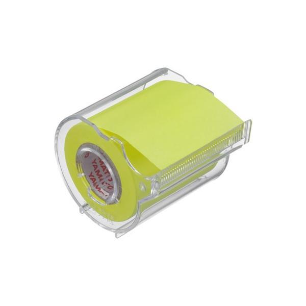 ヤマト メモックロールテープカッター付 1巻入り 50mm×10m レモン