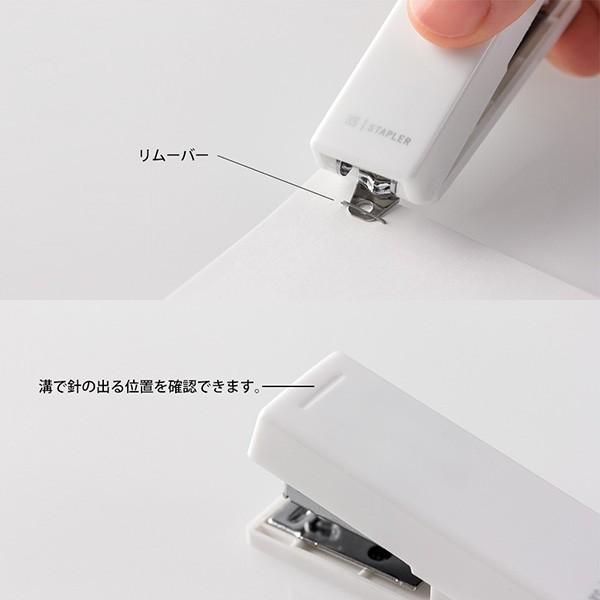 MIDORI ミドリ XS コンパクトホッチキス (白)|bundoki|05