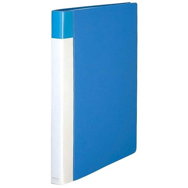 【A4縦型・縦入れ】KOKUYO/キャンパス ポストカードホルダー ハセ-120B 青 替紙式 台紙25枚 100枚(200枚)収容 30穴 便利なチェックカード付き コクヨ