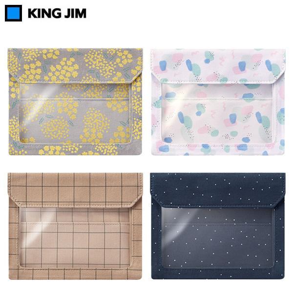 【数量限定!全5色・A6】キングジム/FLATTY WORKS A6サイズ(5460-L10) バッグインバッグ 小物をまとめて収納 フラッティ フラットファイル KING JIM