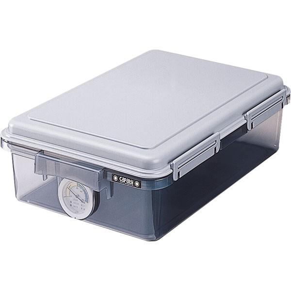 【11L】ナカバヤシ/キャパティドライボックス 11L グレー 収納 (DB-11L-N) カメラ ケース自体に湿度計が付属しています。 Nakabayashi