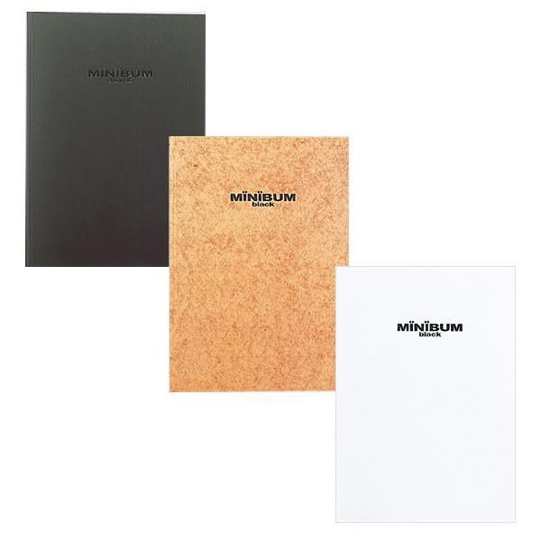 【全3色】ナカバヤシ/ミニバム ブック式アルバム A4 フリー台紙 黒 (アE-MB-152-D) 黒台紙が写真をいっそう引き立てます。 Nakabayashi