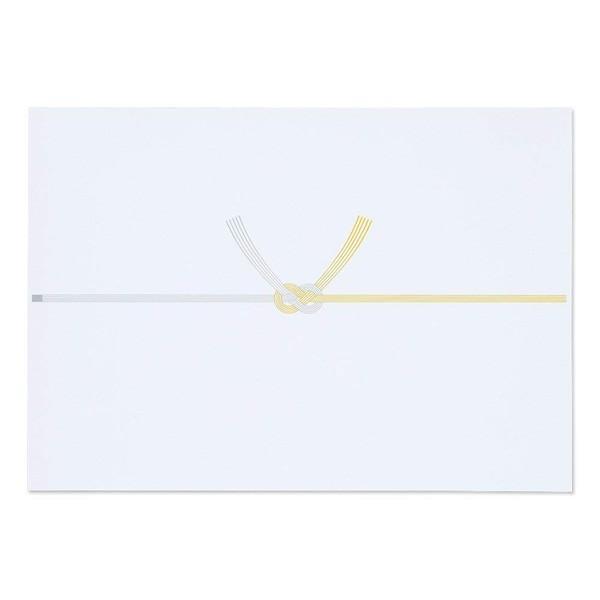 マルアイ/仏 のし紙 結び切り 黄水引 B4 厚口 N 100枚入(ノフN3B4)表書きをプリンタで印刷可能 MARUAI ノフ-N3B4