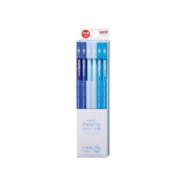 三菱/uniかきかた鉛筆 6角 6B パステルブルー 12本/K55606B