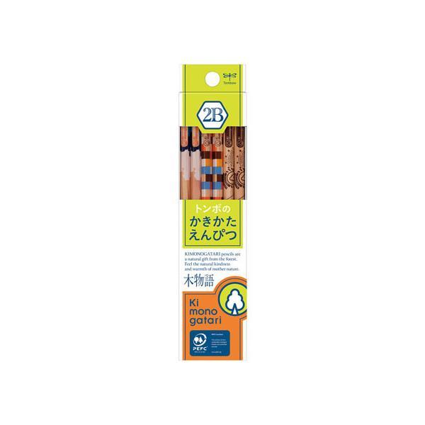 トンボ鉛筆/かきかた鉛筆 F木物語 黄緑 2B/KB-KF02-2B
