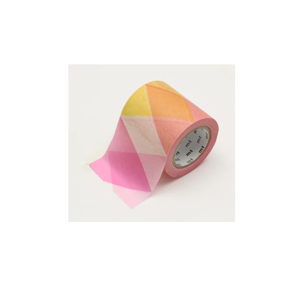 カモ井加工紙 マスキングテープ mt CASA 50mm×10m 三角とダイヤピンク MTCA5123|bungumarche|02