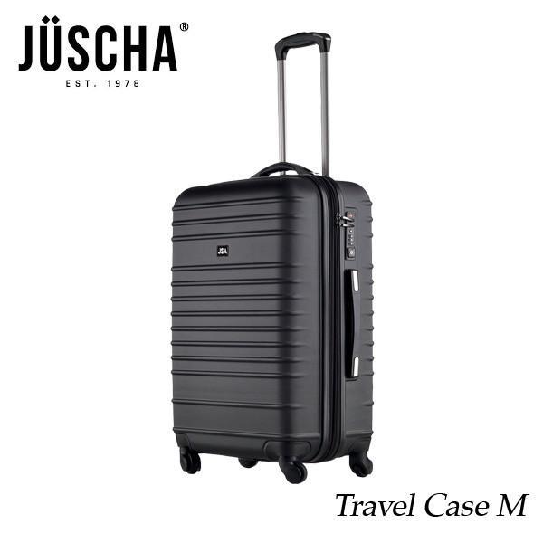 スーツケース  mサイズ 60l ブラックマット キャリーケース  出張 旅行 ハード メンズ レディース 人気  海外ブランド JUSCHA 送料無料 【メール便不可】