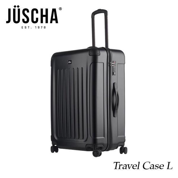 スーツケース  lサイズ 90l ブラックマット キャリーケース  出張 旅行 ハード メンズ レディース 人気  海外ブランド JUSCHA 送料無料 【メール便不可】