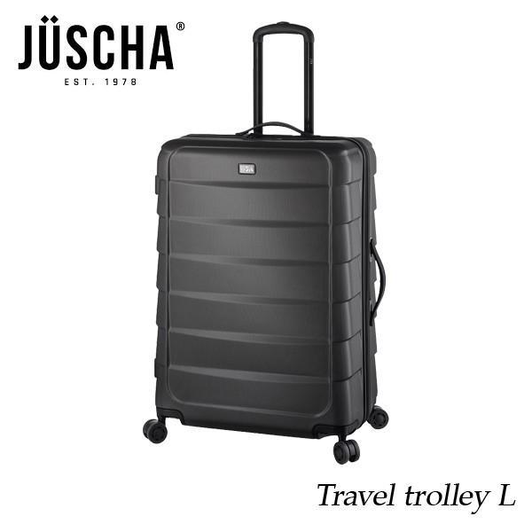 スーツケース  lサイズ 90l グレー キャリーケース  出張 旅行 ハード メンズ レディース 人気  海外ブランド JUSCHA 送料無料 【メール便不可】