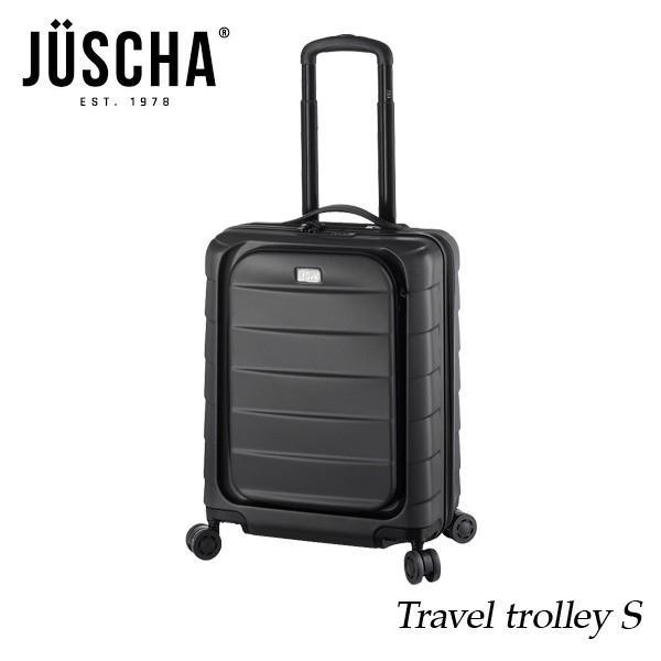 スーツケース  sサイズ 40l グレー キャリーケース  出張 旅行 ハード メンズ レディース 人気  海外ブランド JUSCHA 送料無料 【メール便不可】