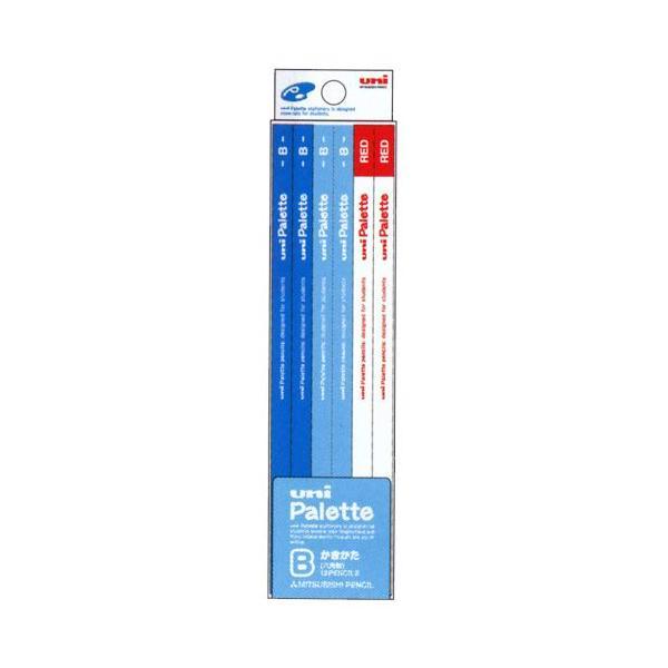 文房具 えんぴつ 鉛筆 小学校 ユニパレット 鉛筆 2B/B パステルブルー 1ダース(10本+赤鉛筆2本) Bのみ★2 メール便可
