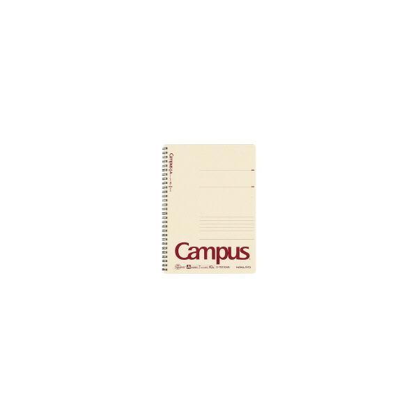 コクヨ ス-TE110AN キャンパス再生紙ツインリングノート セミB5 40枚 A罫 (10冊セット)