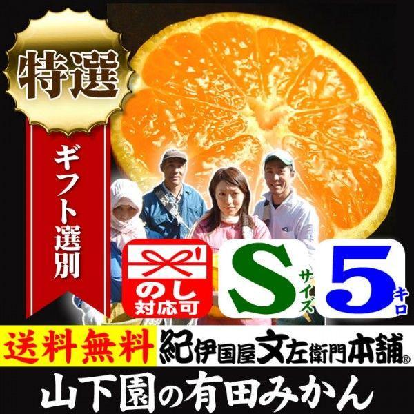 和歌山有田みかん 山下園の有田みかん 厳選ギフト (Sサイズ) 約5kg 温州みかん/正しくは「ありたみかん」ではなく、「ありだみかん」です