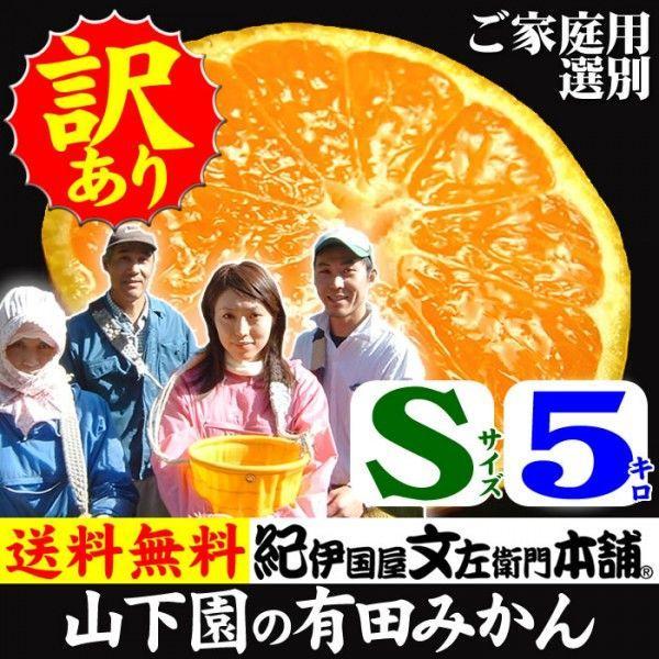 和歌山有田みかん 山下園の有田みかん ご家庭用 (Sサイズ) 約5kg 温州みかん・正しくは「ありたみかん」ではなく、「ありだみかん」です