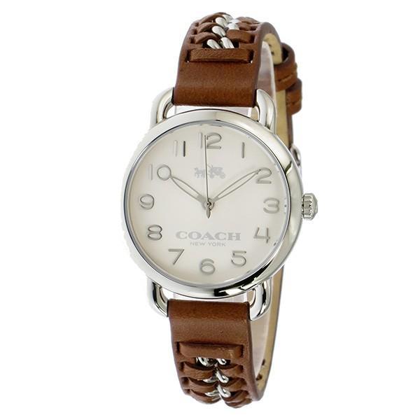 コーチ 腕時計 レディース COACH デランシー 14502258 ブラウン ホワイト 人気 ブランド おしゃれ 可愛い ギフト プレゼント