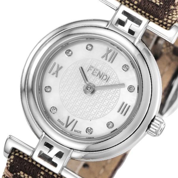 フェンディ モーダ クオーツ レディース 腕時計 F271242DF ホワイトパール 人気 ブランド
