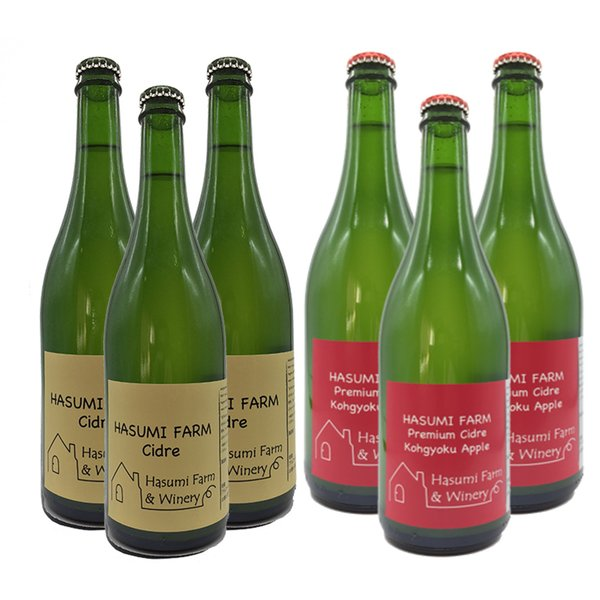 シードル3本+紅玉シードル3本セット 750ml×6 送料込 (沖縄別途1,060円)20歳未満の飲酒・販売は法律で禁止されています