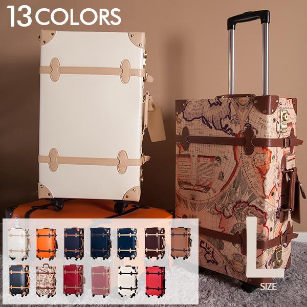 スーツケース トランク キャリーケース Lサイズ 7泊〜10泊用 大型 一年間保証 送料無料 TSAロック搭載 軽量 4輪 TANOBI PP02&P220|busyman-jp