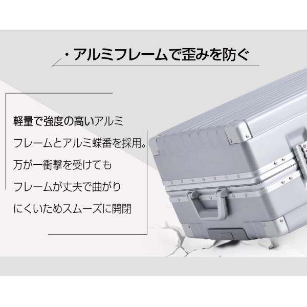 キャリーケース  Lサイズ スーツケース  キャリーバッグ フレーム TSAロック 一年間保証 軽量 7日〜14日 大型 RM18076|busyman-jp|11