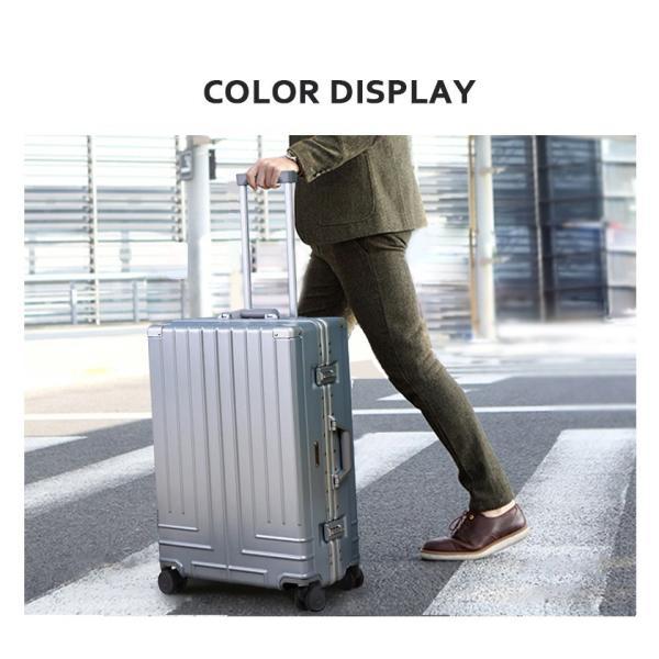 キャリーケース  Lサイズ スーツケース  キャリーバッグ フレーム TSAロック 一年間保証 軽量 7日〜14日 大型 RM18076|busyman-jp|03