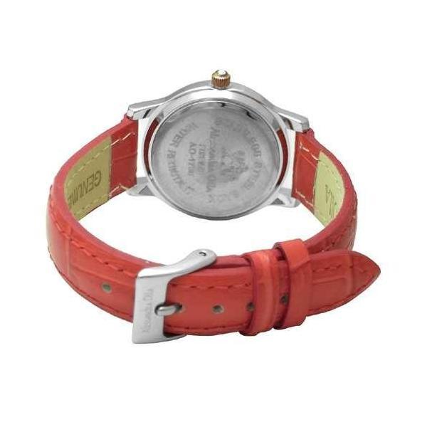腕時計 レディース アレサンドラオーラ Alessandra Olla 腕時計 ラウンドフェイス 10Pクリスタルベゼル レディ−スウォッチ AO-1750RE レッド 送料無料
