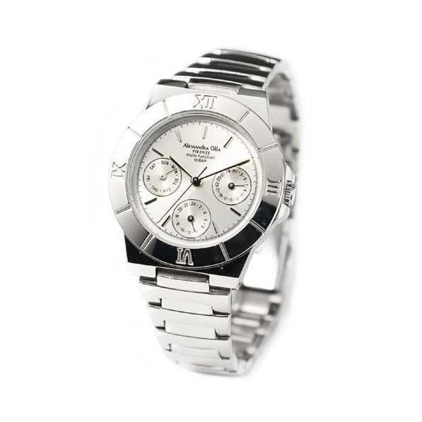 腕時計 レディース アレサンドラオーラ Alessandra Olla 腕時計 マルチファンクション レディースウォッチ AO-900-2 シルバー 送料無料