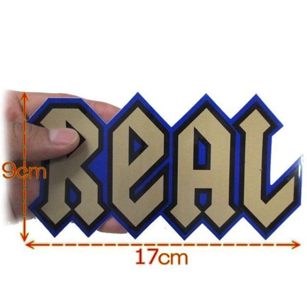 REAL ( リアル ) Deeps ロゴステッカー サイズ:ミディアム (スケートボード スケボー SK8 DLX デラックス シール ステッカー)|butterflygarage|02
