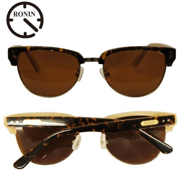 Ronin Eyewear ( ロニンアイウェアー ) 50/50 ミディアム ベッコウフレーム ブラウングラデーションポーラレンズ ( スケートボード スケボー サーフィン ステッ|butterflygarage