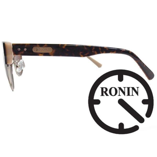 Ronin Eyewear ( ロニンアイウェアー ) 50/50 ミディアム ベッコウフレーム ブラウングラデーションポーラレンズ ( スケートボード スケボー サーフィン ステッ|butterflygarage|03