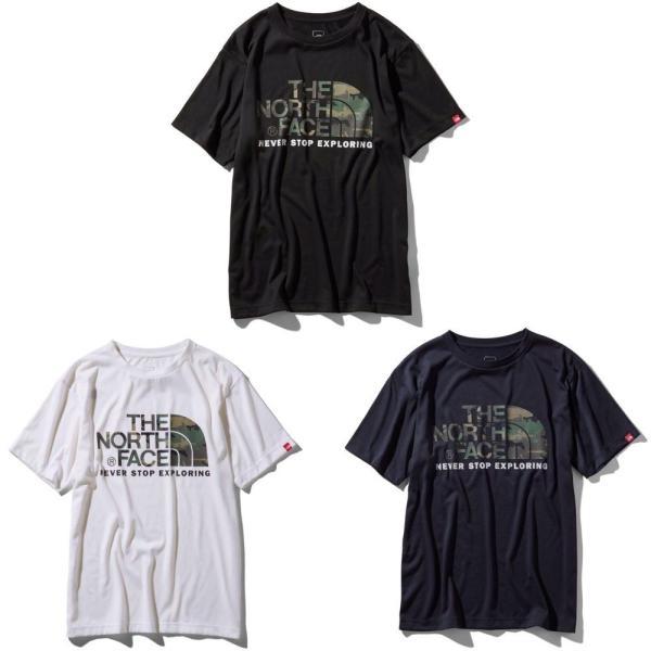THE NORTH FACE ザ ノースフェイス 半袖 Tシャツ カモフラージュロゴティーアウトドア ブランド butterflygarage